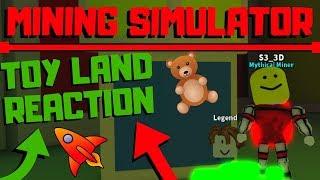Roblox Mining Simulator: SO VIEL TOYS! (Spielzeug Land Reaktion & Bewertung)