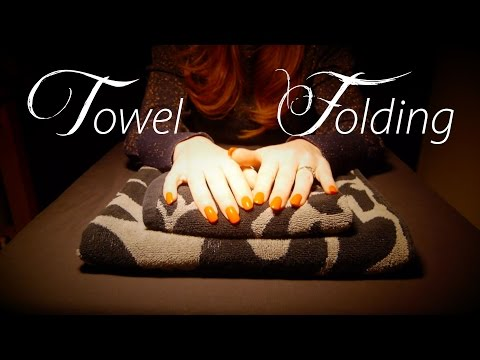 ASMR ♥︎ A Tribute to the Towel Folding Video ♥︎ Fabric Sounds/Whispering