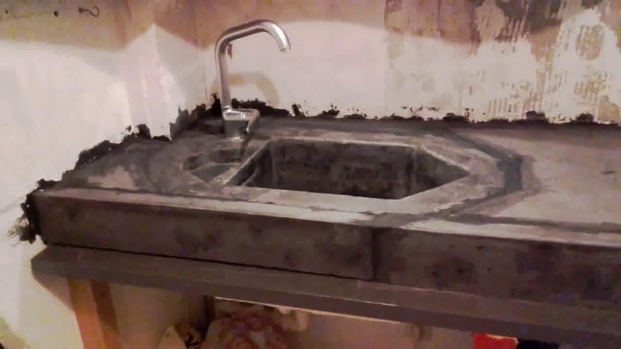 Geliefde Betonnen aanrecht / Concrete countertop - YouTube XY15