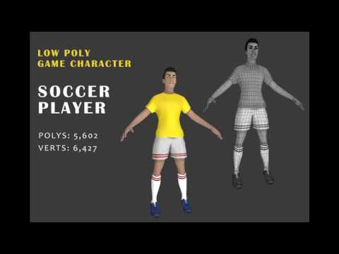 Soccer Player with 27 action animations | Unity Asset Store