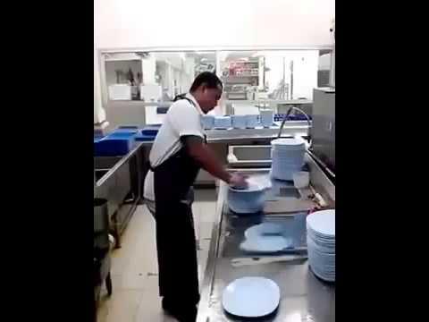 O o el lava platos mas rapido youtube for Platos rapidos