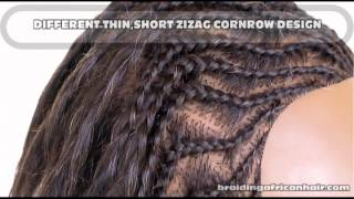 How To Cornrow Zig Zag Lines End With 3 Strand Extensions