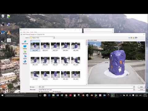 Groundbased Photogrammetry Workflow using VisualSFM, Meslab, and Blender