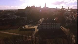 Lublin z lotu ptaka. Okolice Zamku Lubelskiego.