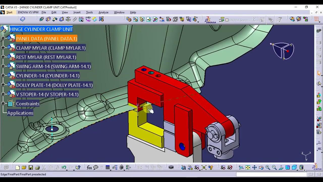 Tutorial 03 For Biw Welding Fixture Swing Unit Design Or