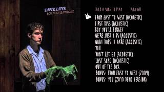 "Dave Days ""From East to West (Acoustic)"" Audio"