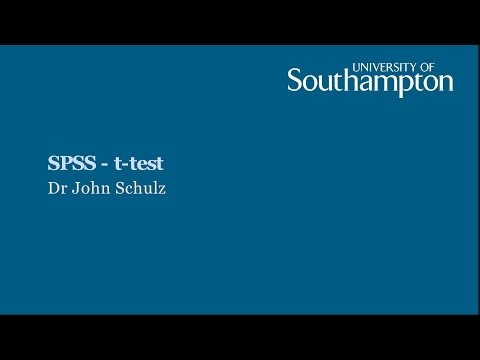 SPSS t test