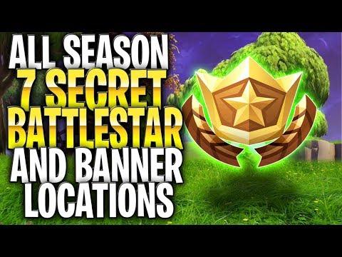 *ALL* Season 7 Secret Battlestars AND Hidden Banner Locations! (All Stars And Banners Season 7)