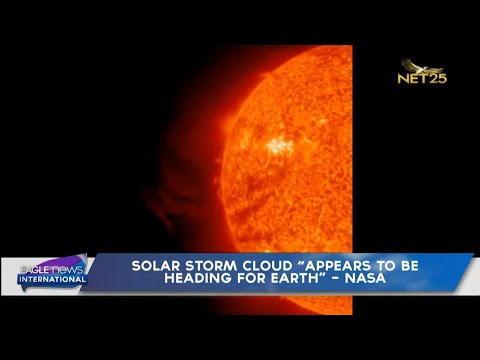 """Solar storm cloud """"appears to be heading for earth"""" - NASA"""