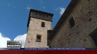 Litice nad Orlicí: Státní hrad Litice je opět přístupný, opravy zdi se blíží ke konci