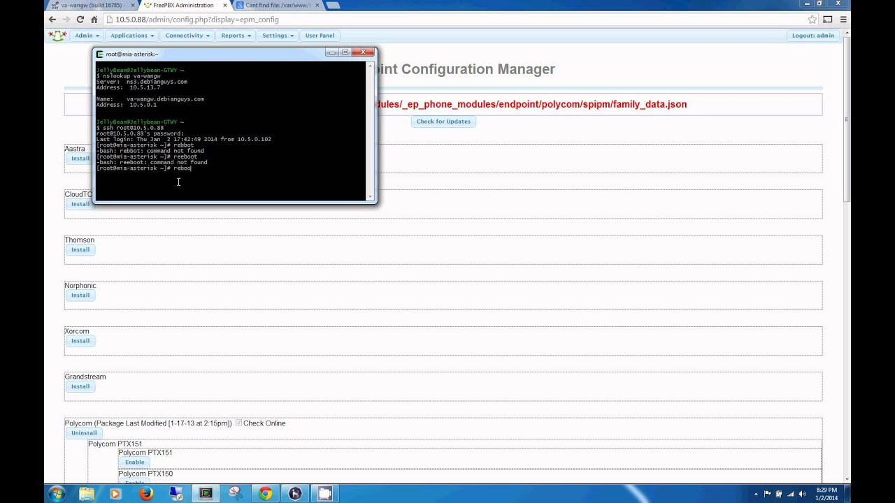 FreePBX Endpoint Configuration Manager