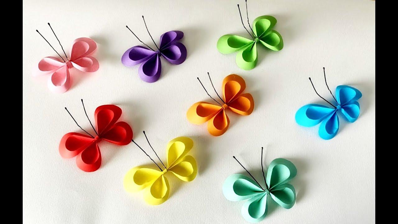 Farfalle Fai Da Te fai da te | farfalle di carta semplici e bellissime -video-