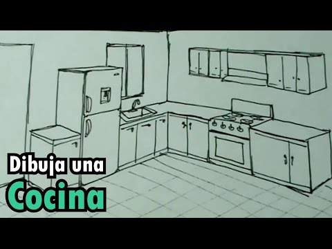 Dibuja Facil Una Cocina Con Estufa Y Nevera Drawing Kitchen Youtube