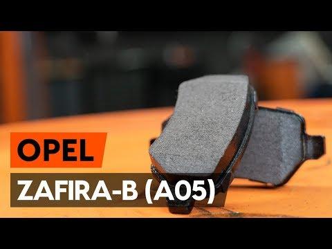 How to change rear brake pads / rear brake pad set onOPEL ZAFIRA-B 2 (A05) [TUTORIAL AUTODOC]