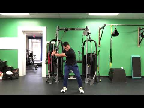 RESISTANCE BAND DOWNSWING DRILL