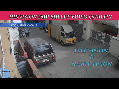 Hikvision 2mp bullet  video quality 1080P Pixel 3.6mm lens and 20Meter IR Night Vision