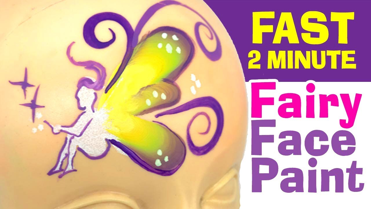 Fast Fairy Face Painting How To Face Paint A Fairy In Under 2 Minutes Face Painting Classes Online Learn To Face Paint