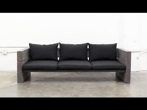 How To Make Wooden Sofa (Cheap And Easy) - YouTube