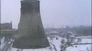 Wyburzenie chłodni kominowej w Elektrowni Łagisza w Będzinie