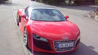 The brand new Audi R8 Spyder in red!