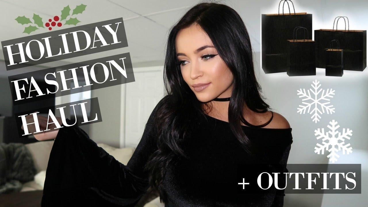 Holiday Fashion Haul Outfit Ideas Stephanie Ledda Youtube