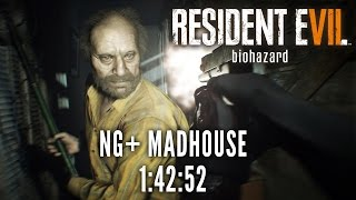 Resident Evil 7 - NG+ Madhouse Speedrun in 1:42:52 [World Record]