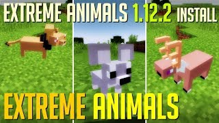 EXTREME ANIMALS MOD 1.12.2 minecraft - how to download and install Extreme Animals 1.12.2