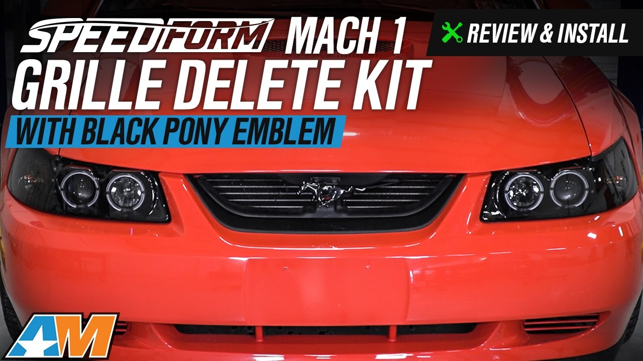 2017 Mustang Gt Premium >> 1999-2004 Mustang GT, V6 SpeedForm Mach 1 Grille Delete Kit Review & Install - YouTube