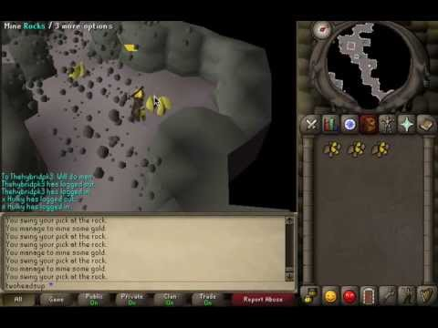 07 Old School Runescape Skill Guide; Mining Gold Pt.1 (Levels 41-99)