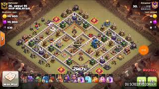 COC TH12 war - Electro Dragon 3 stars ( Air troops special mix collection 2# )