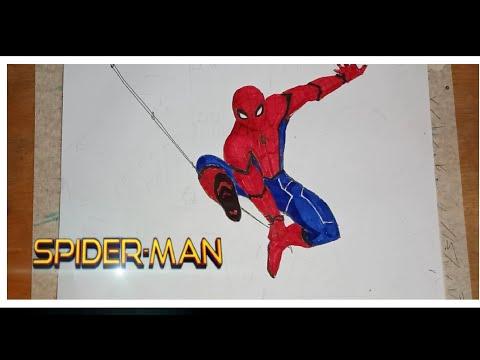 วาดรูปสไปเดอร์แมน drawing spider-man Ep1 (1/2)