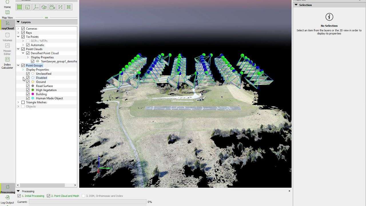 SfM Processing - Pix4D RayCloud demo