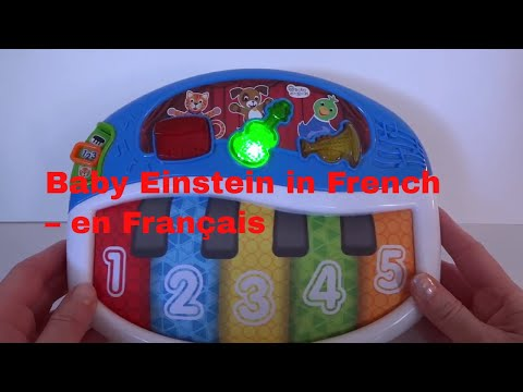Baby Einstein Musical Light Up Toy -  Learn Numbers in French - en Français -  FunStarfishToyChannel
