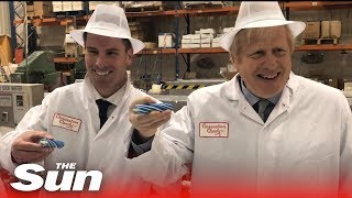 General election 2019: Boris Johnson makes 'Back Boris' rock in Blackpool