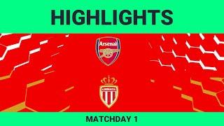 Arsenal vs As Monaco FC| Highlights Matchday 1 eFootball.Pro 2019-2020