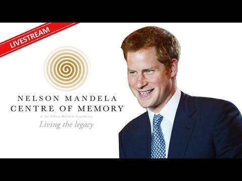 Prince Harry at the Neslon Mandela Foundation