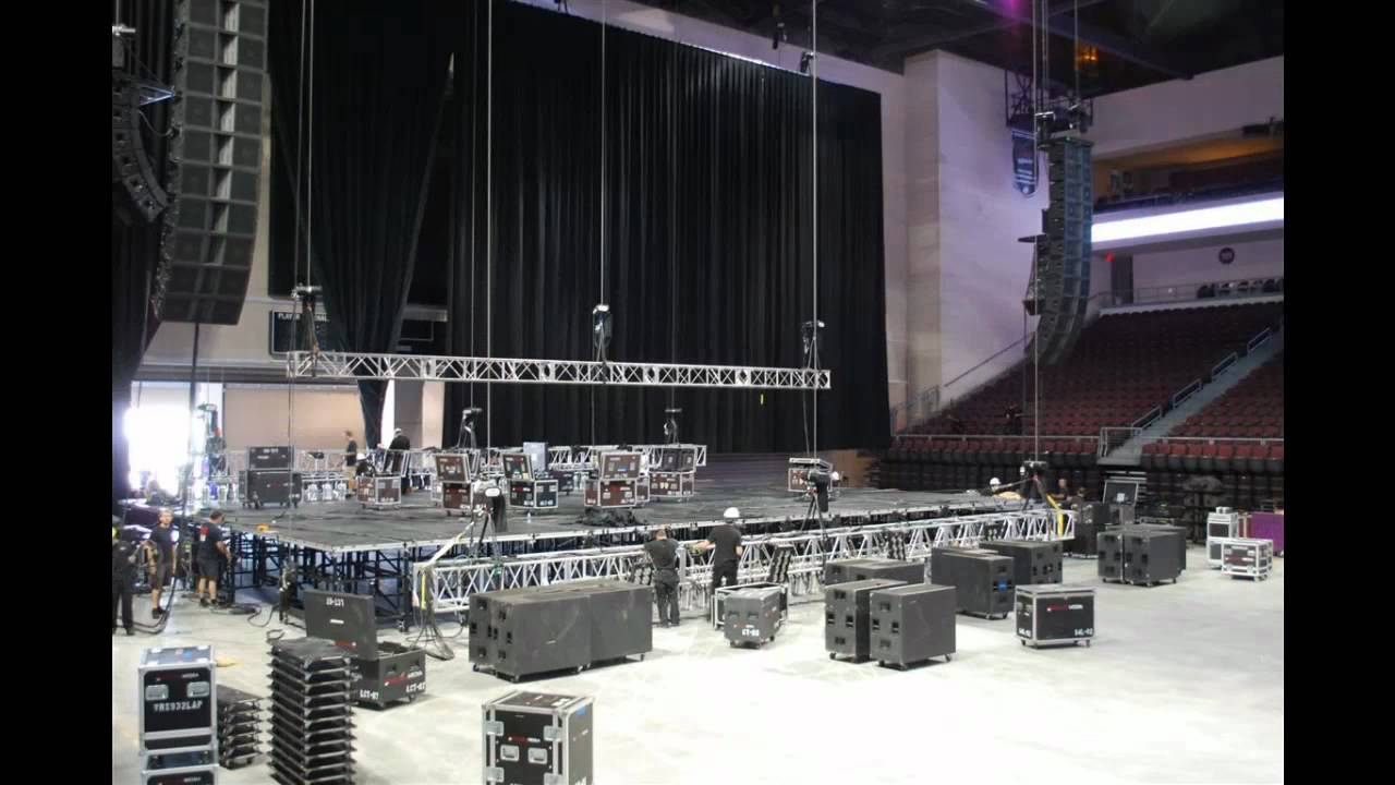 Large Stage Build For Arena Concert Youtube