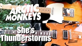 She's Thunderstorms [Live] - Arctic Monkeys ( Guitar Tab Tutorial & Cover )