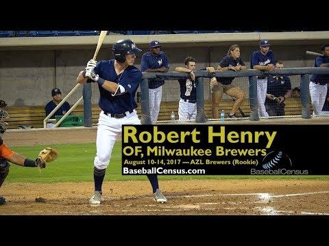Robert Henry, OF, Milwaukee Brewers — August 10-14, 2017