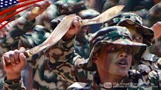 グルカ兵(ネパール軍レンジャー)のククリナイフ演武&ダンス