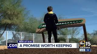 Scottsdale school gets promised playground equipment