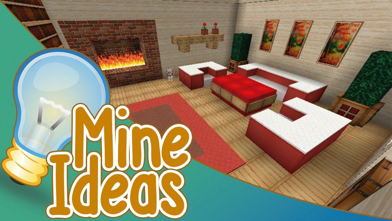 Mine ideas 3 dise os de salas de estar minecraft youtube for Sala de estar no minecraft