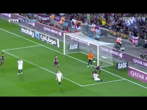 Barcelona vs Sevilla 3-2 Full Match 14.09.2013