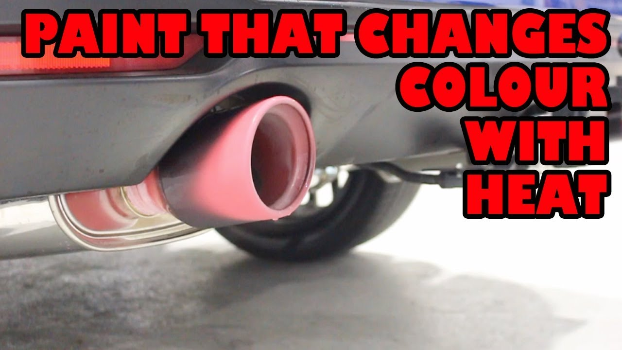 Heat changing paint on exhaust