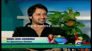 Atif Aslam - Nadia Khan Show Part 8 || www.aadeez.com