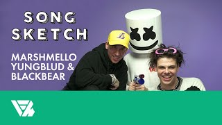 Song Sketch: Marshmello, YUNGBLUD and blackbear Try Drawing For The First Time