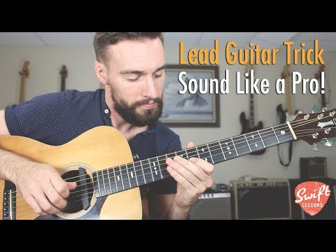 Lead Guitar Lesson - Easy Trick for Sounding Pro!