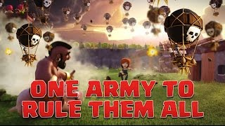 Ultimate Farm & War hybrid army clash of clans TH9 - Suicide Heroes LaLoon - 3 Star Attacks