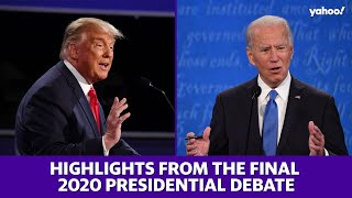 2020 election: Final debate between Trump and Biden