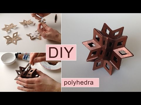 How to make a paperboard star - geometric shape 3d DIY HD